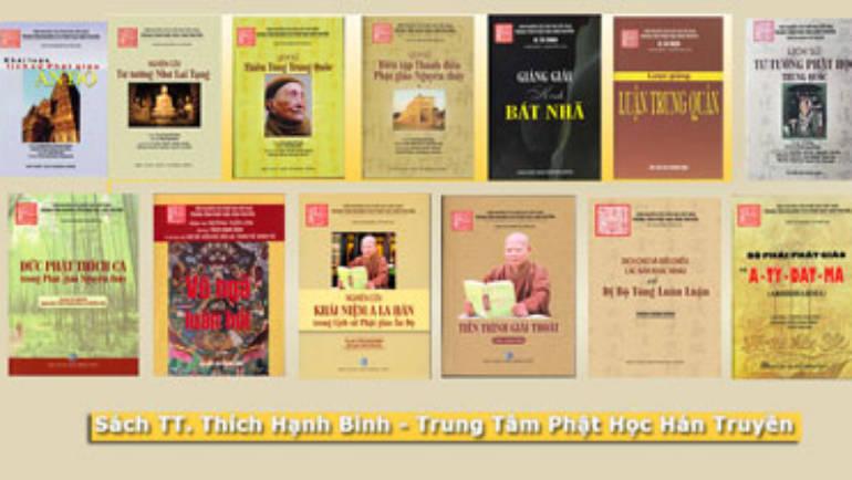 Sách do Trung tâm Phật Học Hán Truyền Tuệ Chủng, TT. Thích Hạnh Bình phát hành